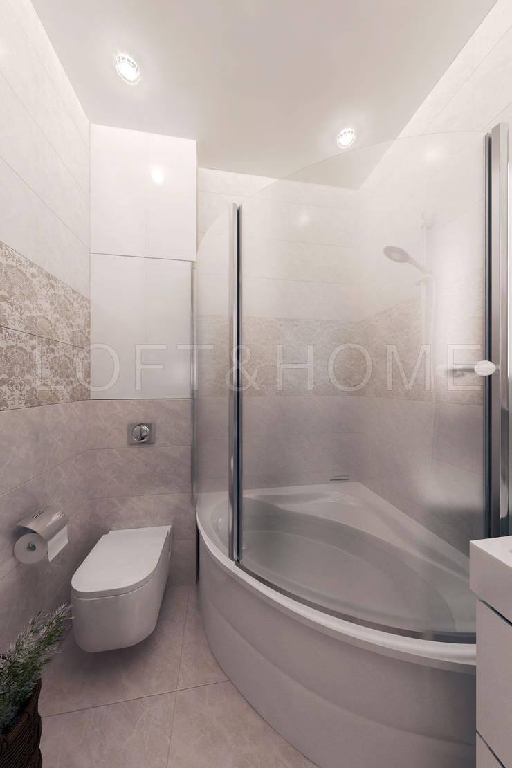 Квартира, ЖК Новорижский: Ванные комнаты в . Автор – Loft&Home