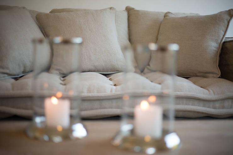 Homestaging Musterwohnung auf Sylt:  Wohnzimmer von Immofoto-Sylt