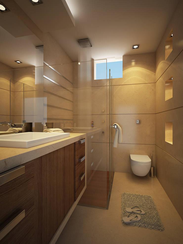 Master Bathroom: modern Bathroom by FUSSON STUDIO