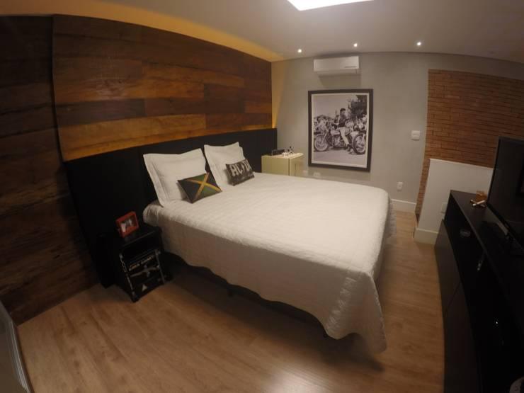 Suíte: Quartos  por LMT Arquitetura,Moderno Madeira Efeito de madeira