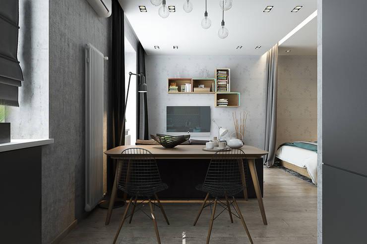 Квартира-студия для молодой пары: Гостиная в . Автор – Solo Design Studio