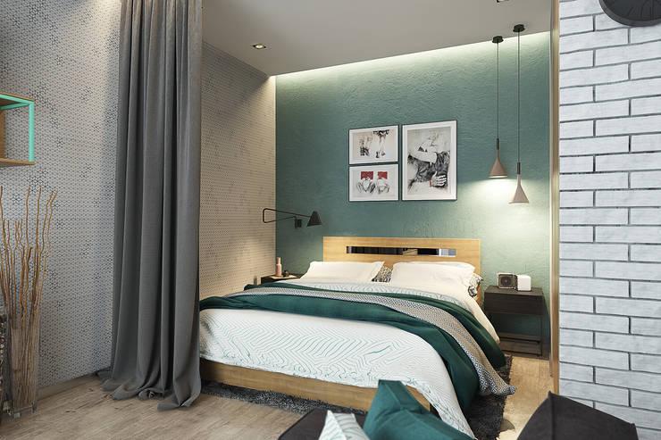 Квартира-студия для молодой пары: Спальни в . Автор – Solo Design Studio