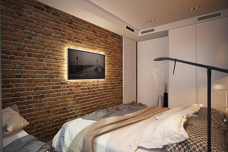 Спальня контрастов: Спальни в . Автор – Solo Design Studio
