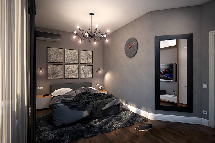 Спальня для молодого человека: Спальни в . Автор – Solo Design Studio, Минимализм