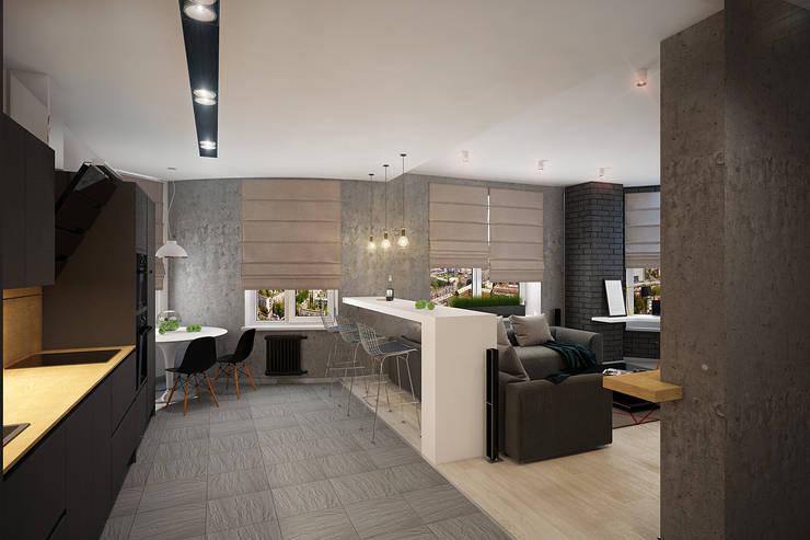 Projekty,  Salon zaprojektowane przez Solo Design Studio