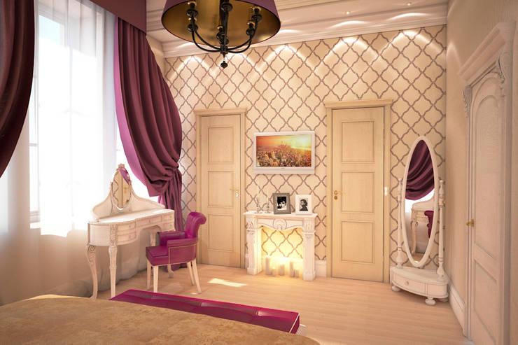 Роскошь цвета фуксии: Спальни в . Автор – Solo Design Studio