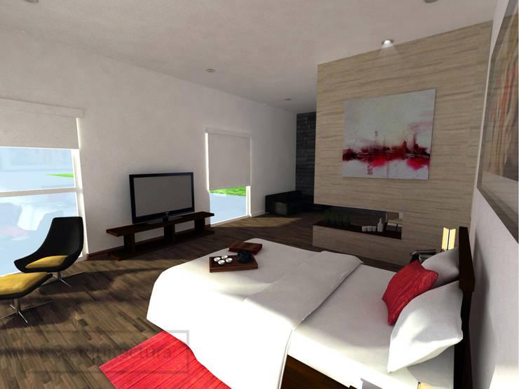 Chambre de style  par fc3arquitectura,