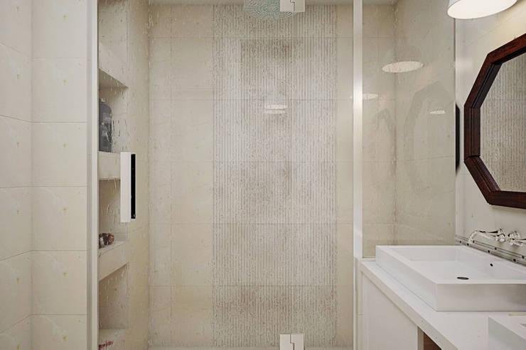 Дом в Коробчицах: Ванные комнаты в . Автор – Студия интерьера МЕСТО,