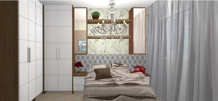 Dormitório Casal: Quartos  por Arquiteta Elaine Silva