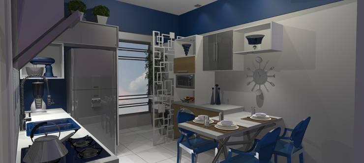 Cozinha Antes e Depois:   por Arquiteta Elaine Silva