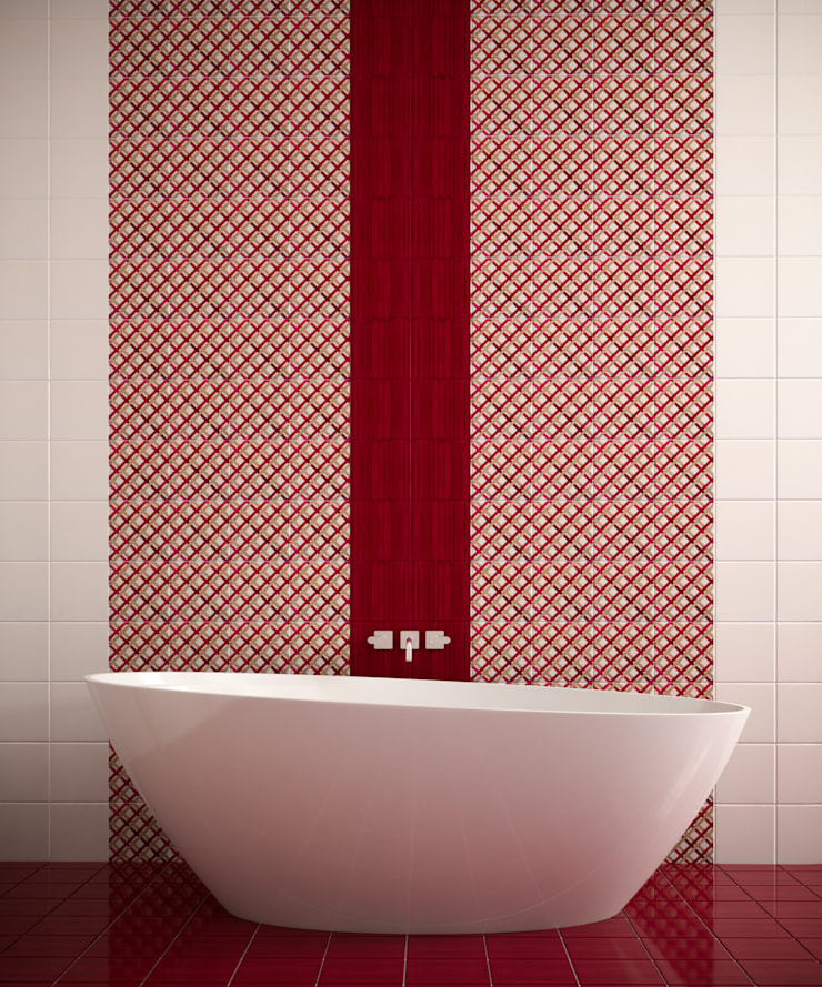 Salle de bains de style  par CERAMICHE MUSA, Moderne Céramique