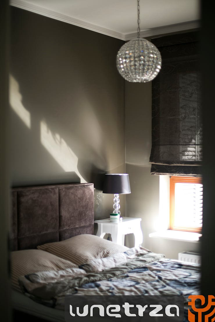 Sypialnia: styl , w kategorii Sypialnia zaprojektowany przez Wnętrza Alicja Galewska