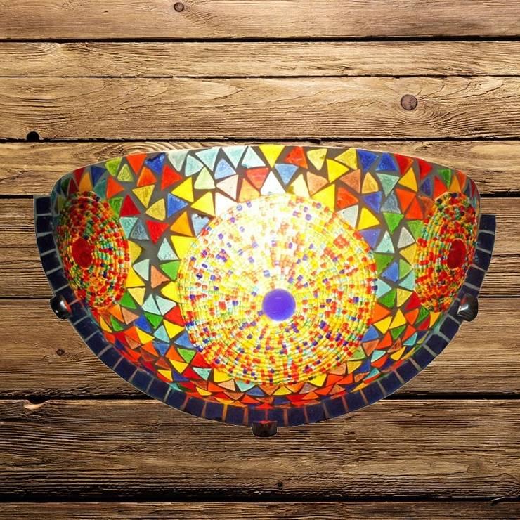 Wandlamp glasmozaiek:   door El Kantra, Mediterraan