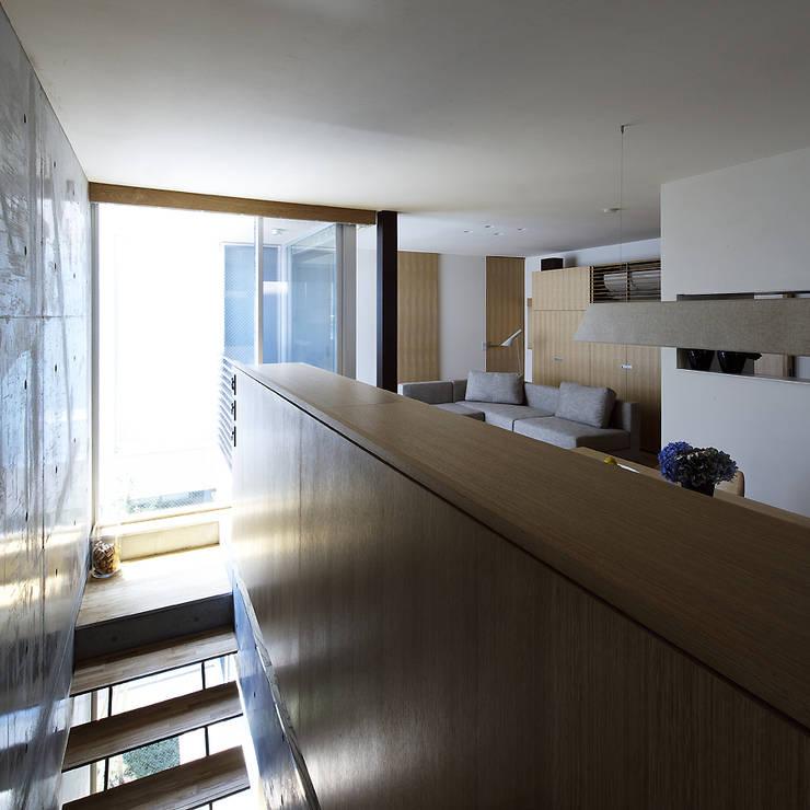Moderne eetkamers van 株式会社廣田悟建築設計事務所 Modern Hout Hout