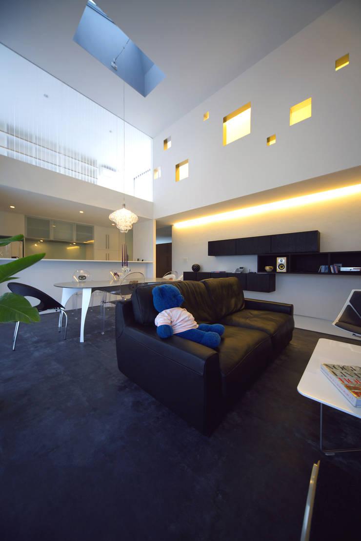 TT: 株式会社廣田悟建築設計事務所が手掛けたリビングです。