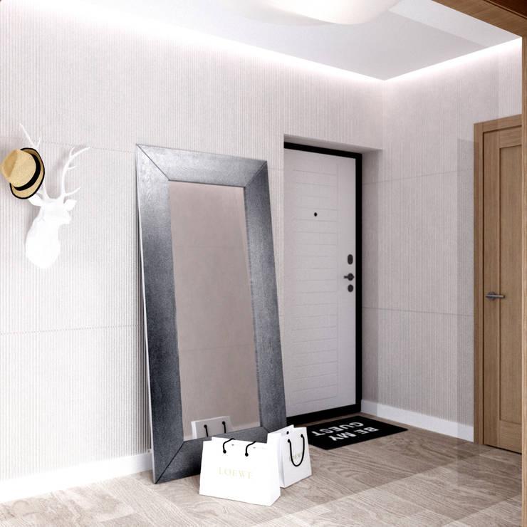 Белый лофт: Коридор и прихожая в . Автор – QUADRUM STUDIO,