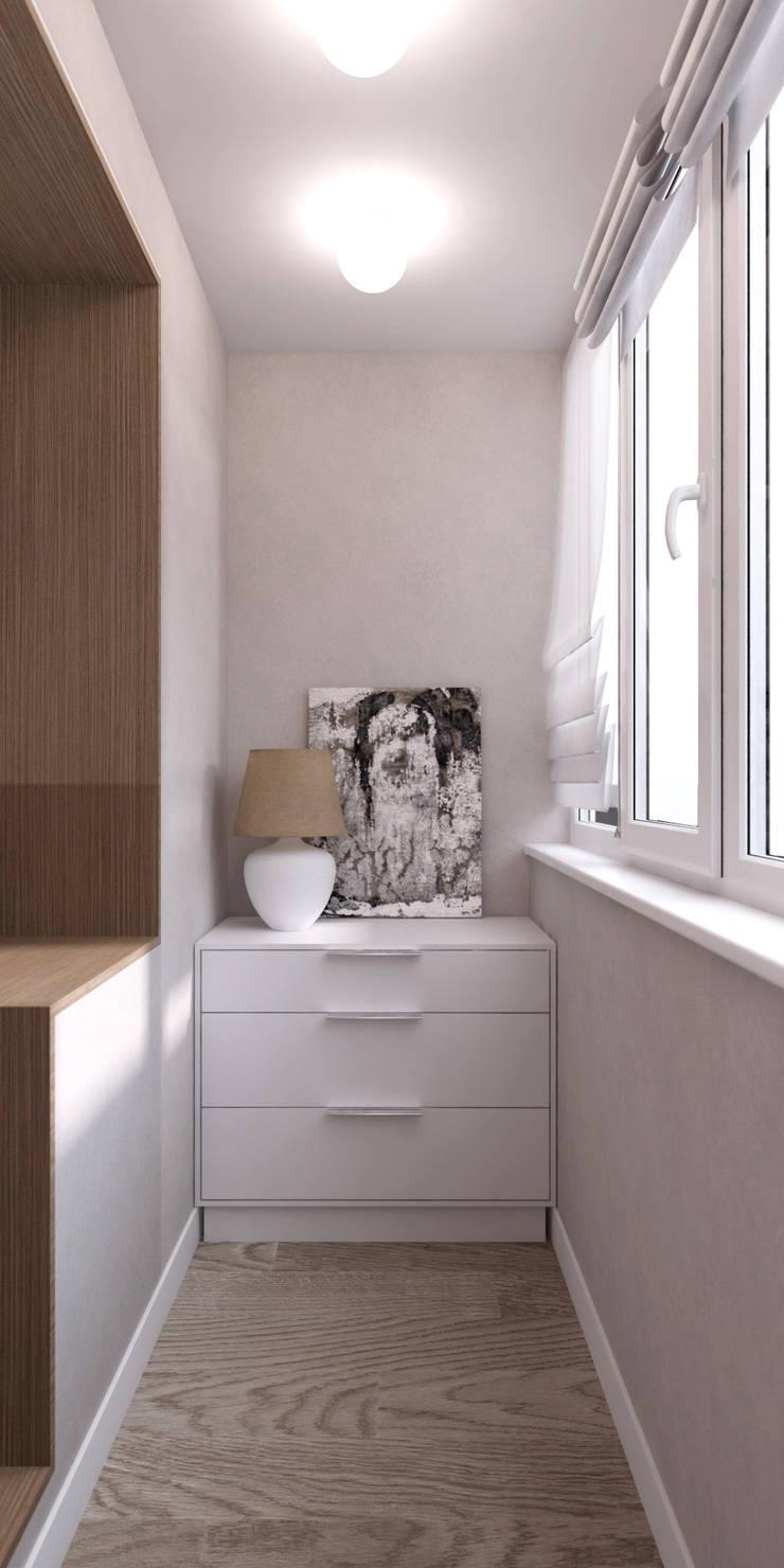 Белый лофт: Tерраса в . Автор – QUADRUM STUDIO,