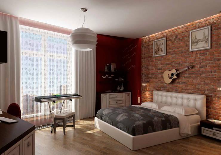 Дизайн интерьера 4-ком. квартиры: Спальни в . Автор – GP-ARCH,