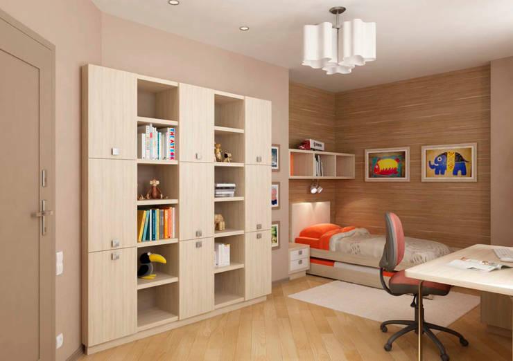 Дизайн интерьера 4-ком. квартиры: Детские комнаты в . Автор – GP-ARCH