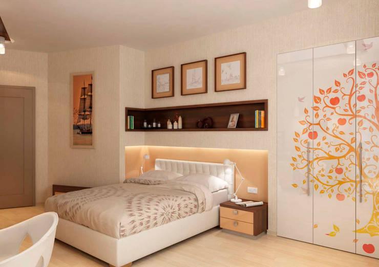 Дизайн интерьера 4-ком. квартиры: Спальни в . Автор – GP-ARCH