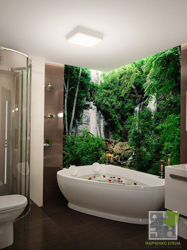 Eclectic style bathrooms by Елена Марченко (Киев) Eclectic