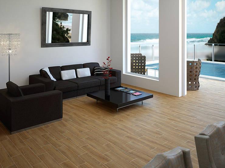 Colorado Secuoya Wood Effect Porcelain Tile:  Walls & flooring by The London Tile Co.