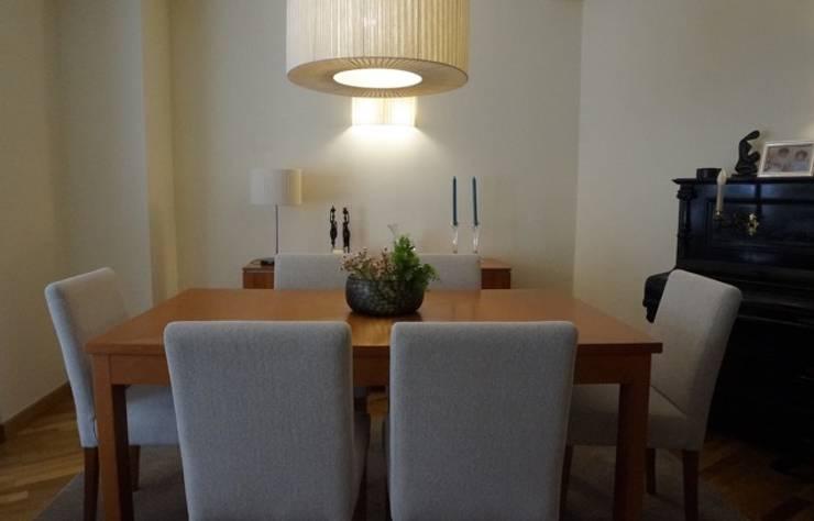 Apartamento Porto: Salas de jantar  por Andreia Miranda - Design de interiores