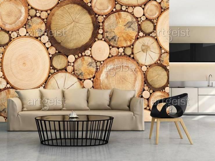 Venatura nel legno: Soggiorno in stile  di BIMAGO.it