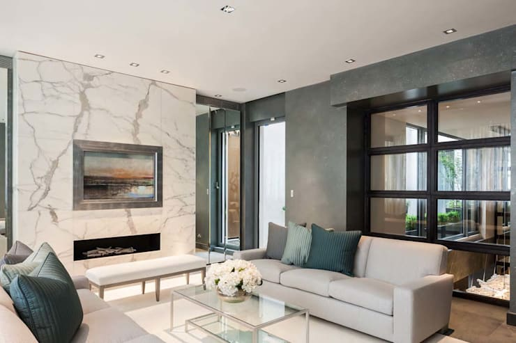 Mayfair House: modern Living room by Squire and Partners