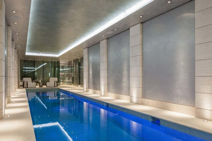 Mayfair House: modern Pool by Squire and Partners