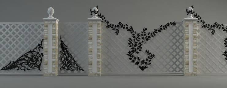 Кованые забор, ворота и калитка: Сады в . Автор – Мастерская ландшафта Дмитрия Бородавкина,