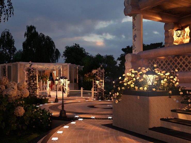 Ночное освещение: Сады в . Автор – Мастерская ландшафта Дмитрия Бородавкина,
