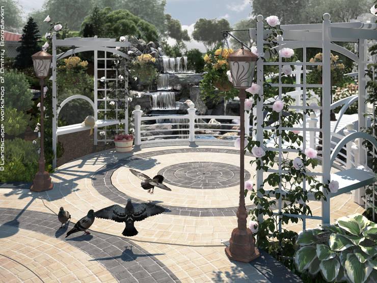 Пергольные скамейки: Сады в . Автор – Мастерская ландшафта Дмитрия Бородавкина,