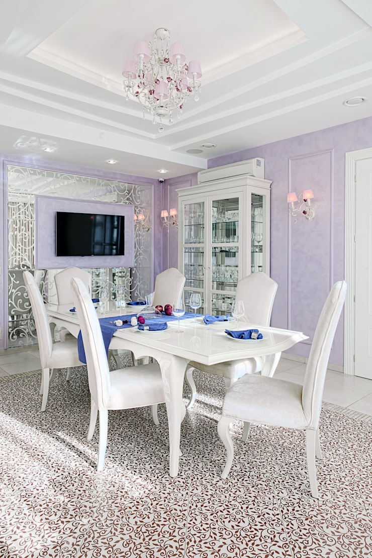 Коттедж Новая рига, 1000 кв.м : Столовые комнаты в . Автор – ELLE DESIGN STUDIO,