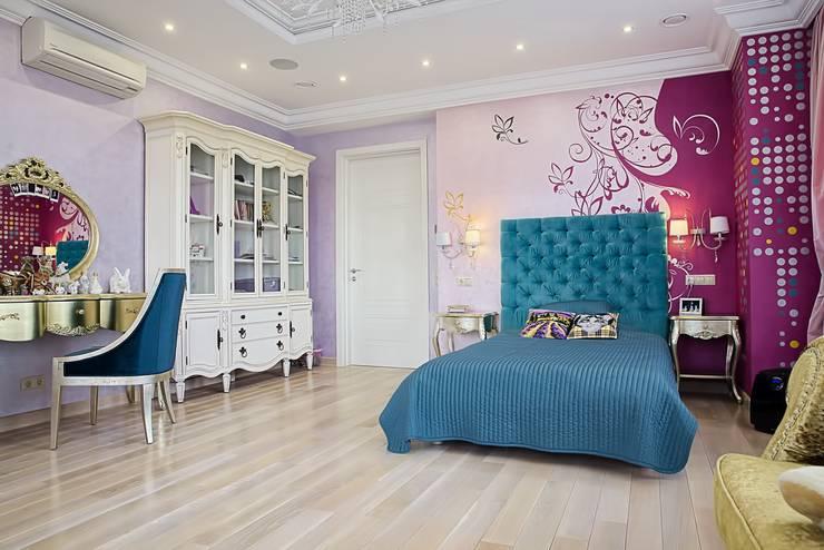 Коттедж Новая рига, 1000 кв.м : Спальни в . Автор – ELLE DESIGN STUDIO,