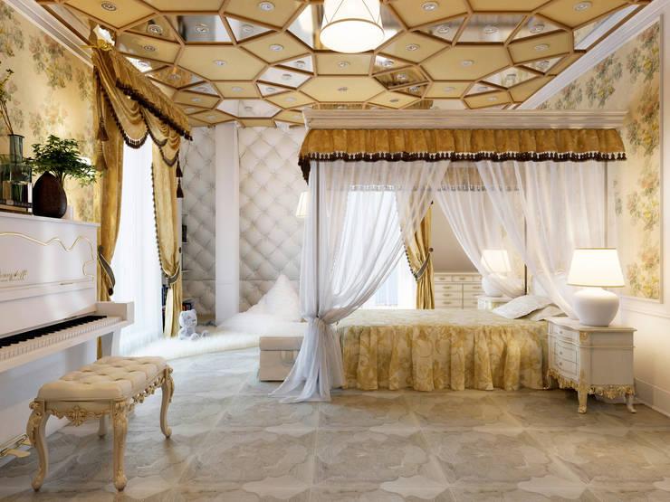 Спальня девочки – частный проект: Детские комнаты в . Автор – Катков Сергей