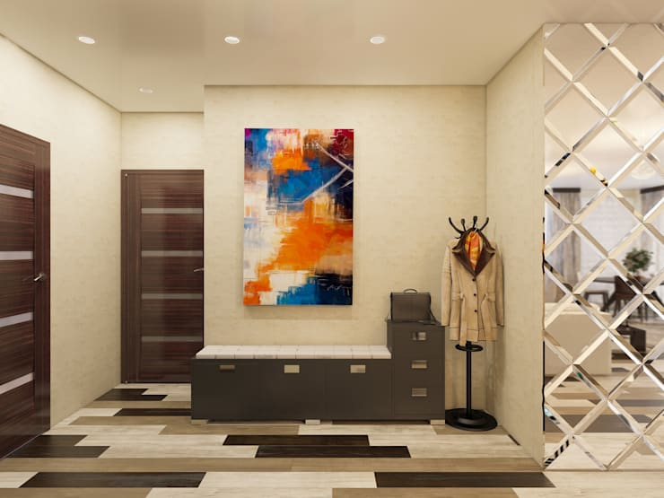 Проект небольшой квартиры под сдачу: Коридор и прихожая в . Автор – Катков Сергей ,