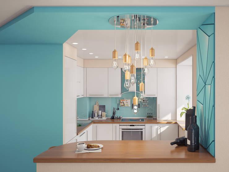 Частная квартира: Кухни в . Автор – Катков Сергей , Минимализм