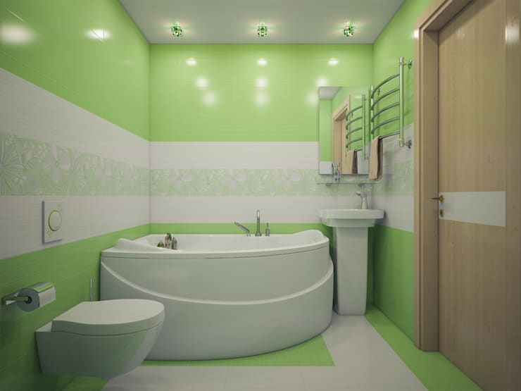 Частная квартира: Ванные комнаты в . Автор – Катков Сергей , Минимализм