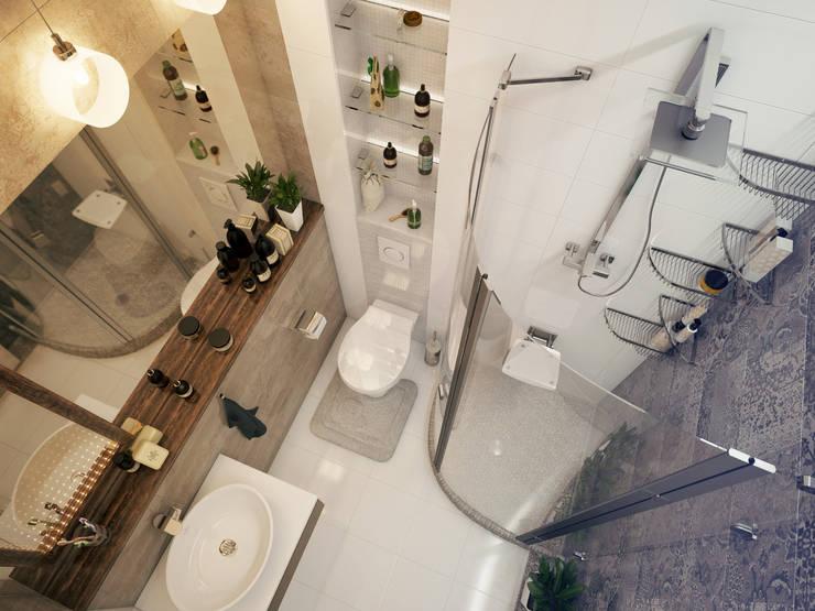 Проект частной квартиры: Ванные комнаты в . Автор – Катков Сергей ,