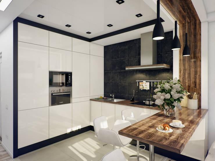 Projekty,  Kuchnia zaprojektowane przez Катков Сергей