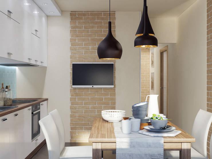 Визуализация интерьера: Кухни в . Автор – Катков Сергей