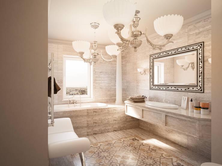 Небольшой проект санузла: Ванные комнаты в . Автор – Катков Сергей , Классический