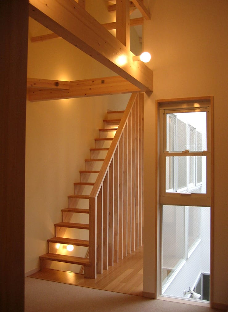 階段: あお建築設計が手掛けた廊下 & 玄関です。