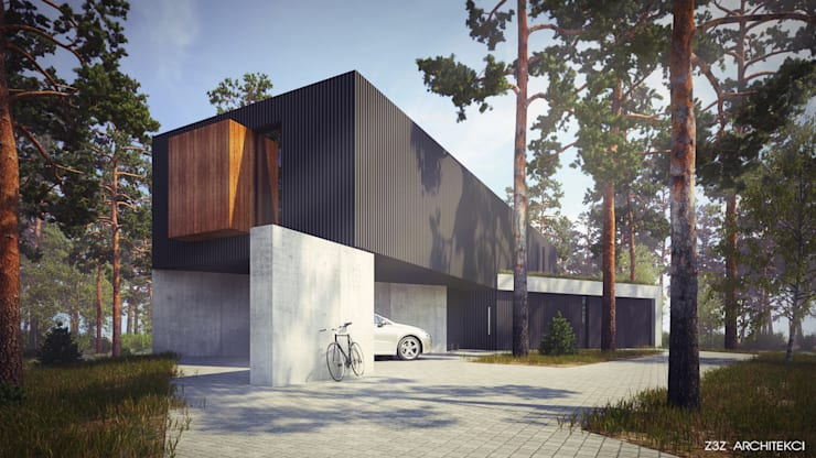 Dom w Czarnowie: styl , w kategorii Domy zaprojektowany przez Z3Z ARCHITEKCI,