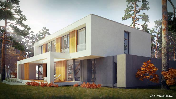Dom w Józefowie: styl , w kategorii Domy zaprojektowany przez Z3Z ARCHITEKCI