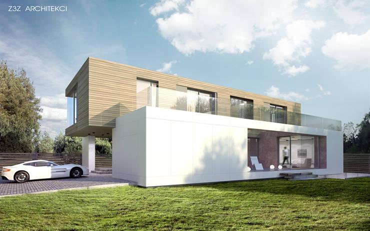 Dom w Józefosławiu: styl , w kategorii Domy zaprojektowany przez Z3Z ARCHITEKCI