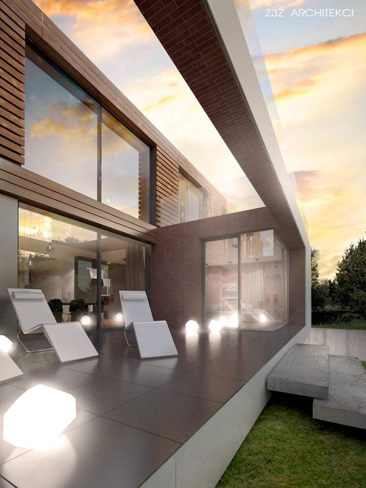 Dom w Józefosławiu: styl , w kategorii Taras zaprojektowany przez Z3Z ARCHITEKCI