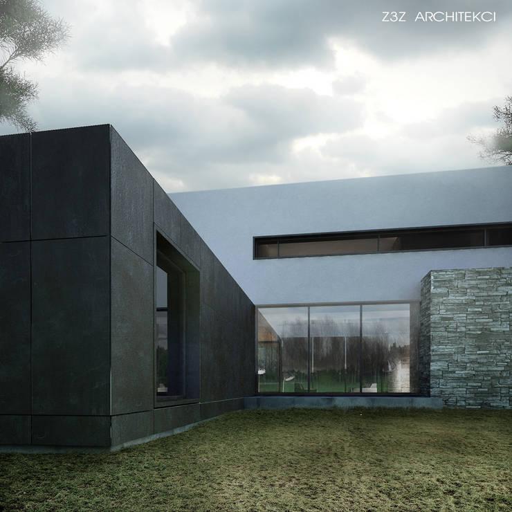 Dom w Sękocinie: styl , w kategorii Domy zaprojektowany przez Z3Z ARCHITEKCI,Minimalistyczny