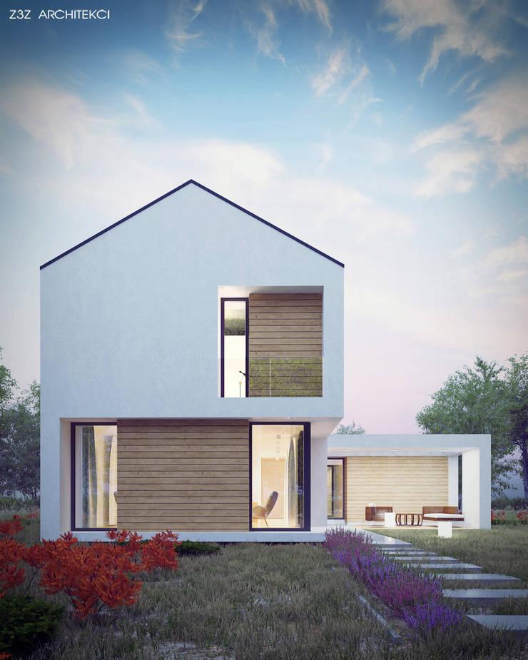 Dom Szczery: styl , w kategorii Domy zaprojektowany przez Z3Z ARCHITEKCI